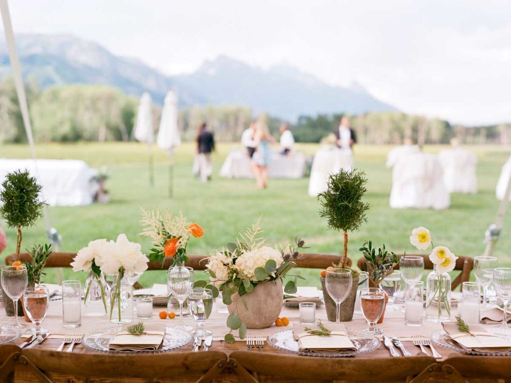 Outdoor wedding in Teton village, Jackson Hole